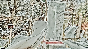 Swan Wave, Oblique Perspective, a Snowgoyle, Mabel, Troy, Elk Mountain Bowl