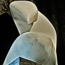 Birth of a Guin, Colorado Yule Marble Sculpture, Including Hand Carved Marble Bowls, by Martin Cooney