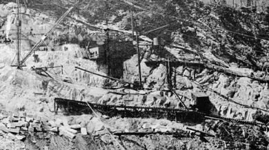 Yule Marble Quarry, 1907, quarry face panorama