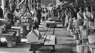 Yule Marble Quarry, 1913 hand polishing plant (5)