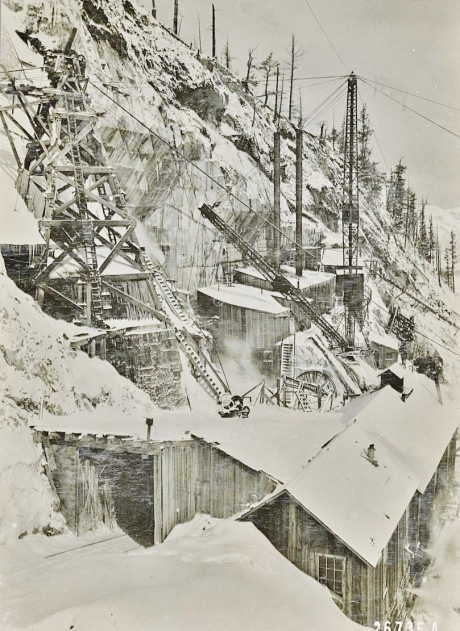 Yule Marble Quarry, 1916 blizard of snow (2)