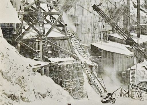 Yule Marble Quarry, 1916 blizard of snow