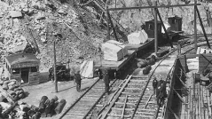 Yule Marble Quarry, loading railcars 3,