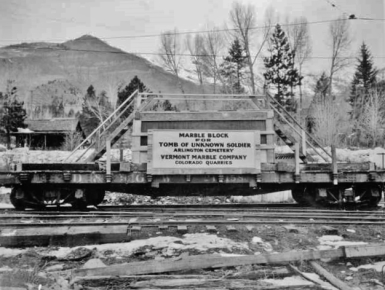 Yule Marble Railroad, Unknown Warior Slab, largest ever,a (2)