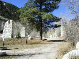 The Town of Marble, Colorado, derelict Yule marble rail yards