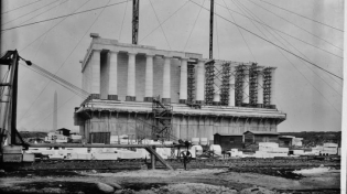 Lincoln Memorial, construction zone