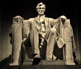 Lincoln Memorial, sepia, statue