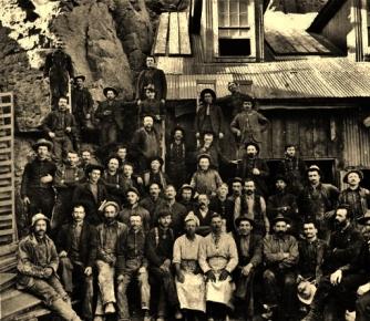 Miners ca.1880-1900, Old Hundred Mine, Colorado