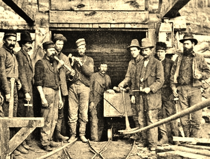 Miners, Carbonate Mine, Leadville,Colorado