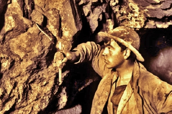 Miners, Geevor Tin Mine, explosives and fuses