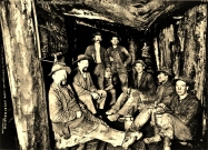 Miners, Lunch in Chance Mine, Wallace, Idahoe