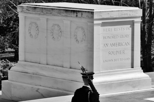 Tomb of the Unknown Soldier, with soldier