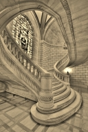 Yule Marble Applications, Cuyahoga County Court House, spiral staircase, Cleveland, Ohio
