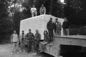Yule Marble Quarry Workers with 65 Ton Block