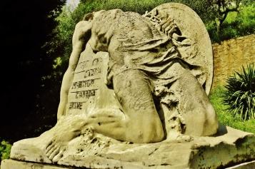 War Memorial, Capriglia, above Pietrasanta, North West Tuscany