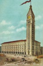 Denver, Daniels & Fisher Tower, old postcard