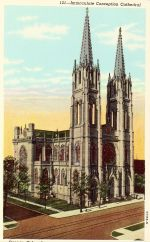 Denver, Immaculate Conception Cathedral, postcard
