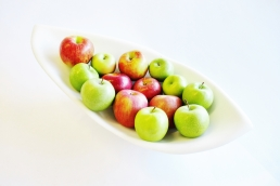 Longboat with Mixed Apples, Colorado Yule Marble Sculpture by Martin Cooney
