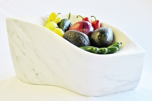 Chicane with Veggie Preps, Colorado Yule Marble Sculpture by Martin Cooney