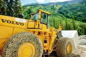Volvo's Largest Loader moves block at the Yule Marble Quarry