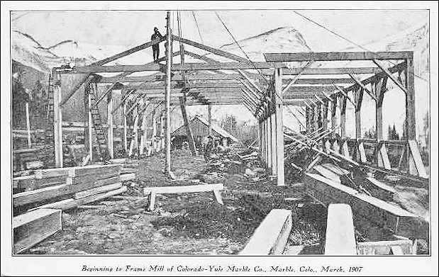 Yule Marble Quarry, Company Mill, 1907