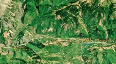 map 7 The Aspen Marble Detour, Close Up, 7 Avalanche Ranch to Redstone 190417