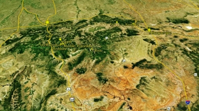 map The Aspen Marble Detour, High Above Aspen to Albequeque 9g 190417