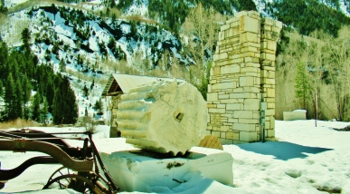 Cracked Column, Old Finishing Mill, Marble, Crystal River Valley, Along The Aspen Marble Detour, Colorado, by Martin Cooney