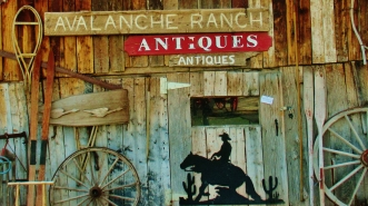 Antiques at Avalanche Ranch, Crystal River Valley, Along The Aspen Marble Detour, Colorado, by Martin Cooney