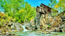 Crystal Mill 1, near Marble Colorado, Along the Aspen Marble Detour