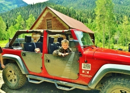Crystal River Jeep Tours 3, Marble Colorado, Along the Aspen Marble Detour