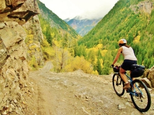 Mountain Biking near Marble Colorado, Along the Aspen Marble Detour 1