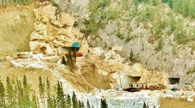Yule Marble Quarry, Colorado Stone Quarries, new portals, salvage operation 3