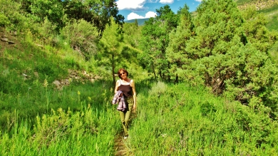 Kris Cooney hikes the McClure Pass Wagon Road Trail, Along The Aspen Marble Detour