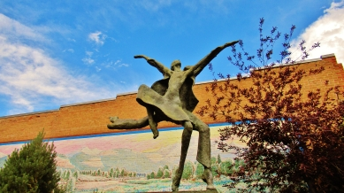 Sculpture on Main Street, Carbondale Colorado, Along The Aspen Marble Detour