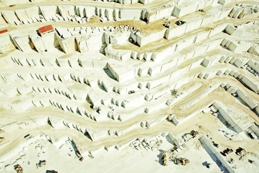 Birros Marble Quarry 1, Pirgon Quarry, near the village of Drama of Northern Greece
